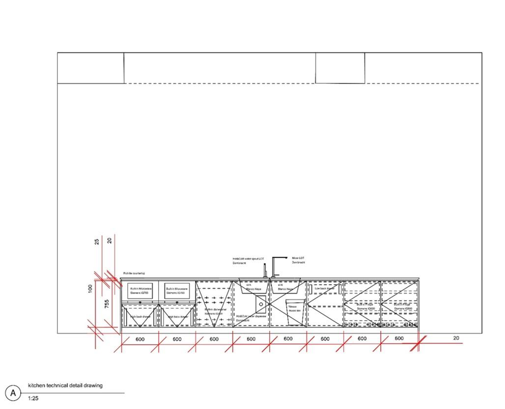 Kitchen Detail Drawing -