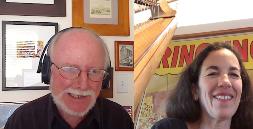 Interviewing harpist Marica Dickstein of the   Debussy Trio