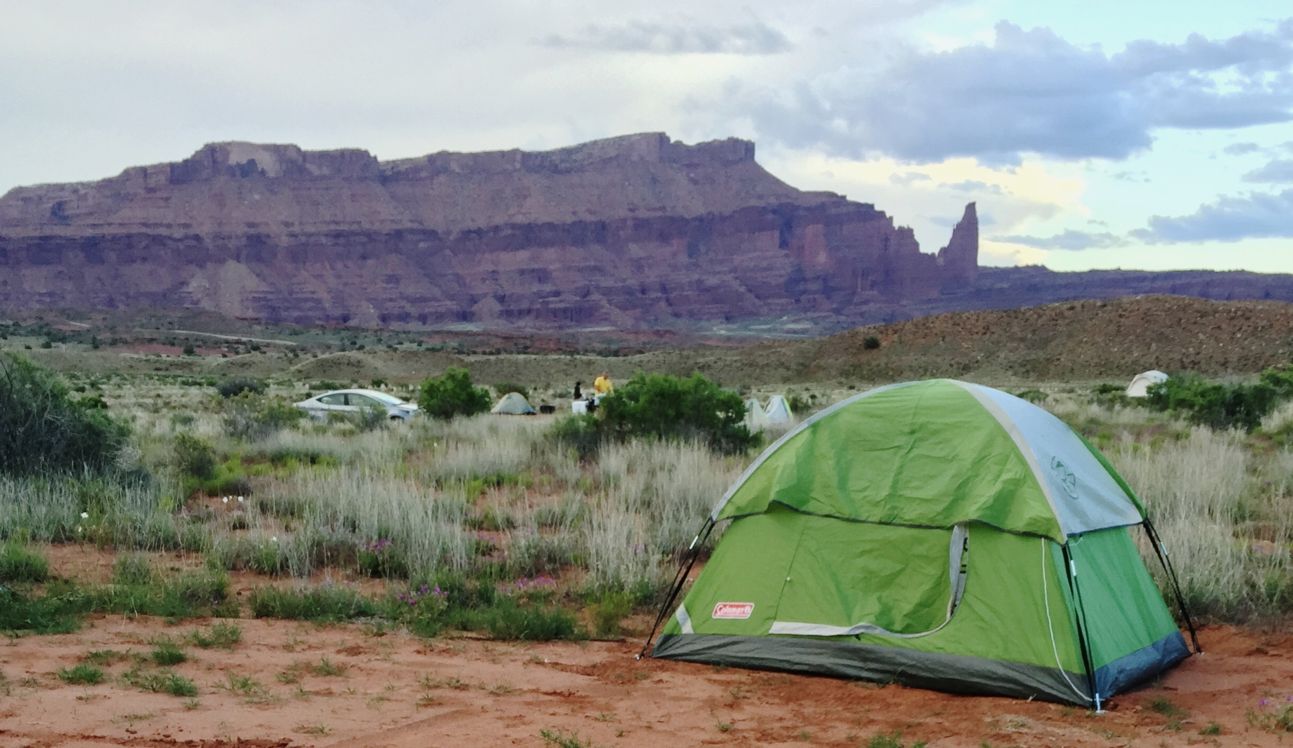 My first out-of-state camping trip with my Coleman Sundome 2 in Moab, Utah.