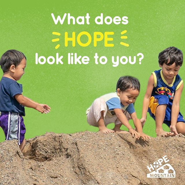 Hope looks to the future with confidence in His goodness and provision! What does HOPE look like to you? #HelpBuildHope