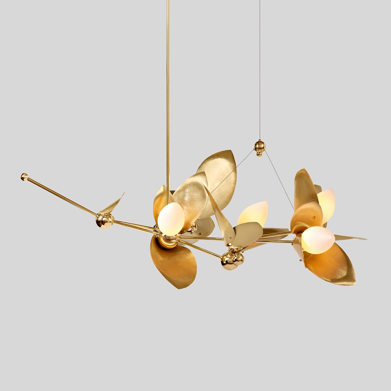 LAUREL BLOSSOM 05-LIGHT CHANDELIER