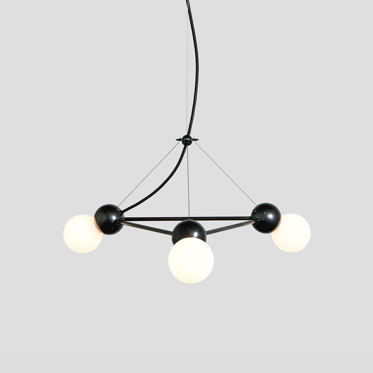 LINA 03-LIGHT TRIANGLE PENDANT