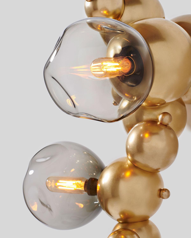 Satin brass with smoke glass