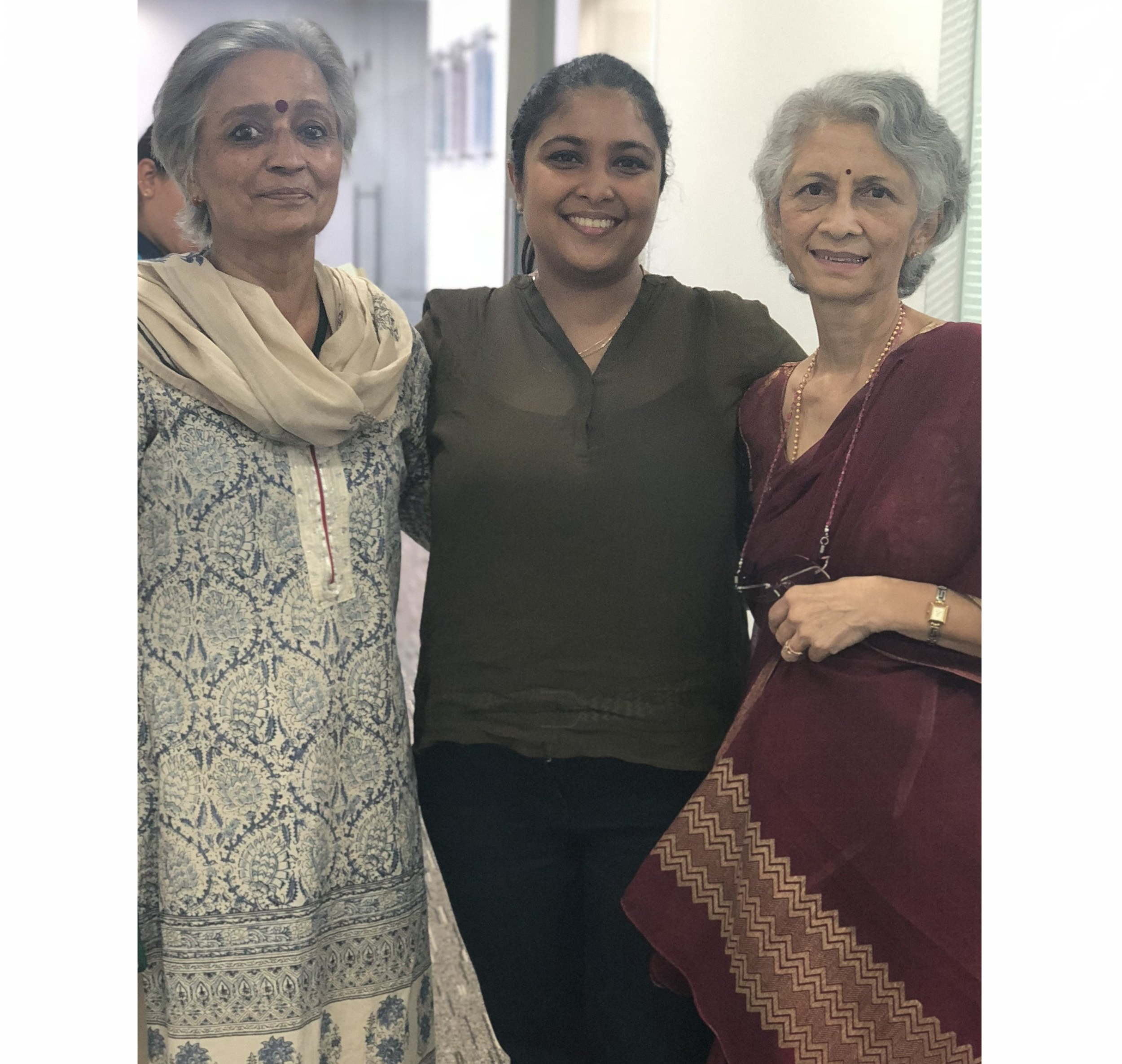 Gita aunty, me and Usha aunty :) -