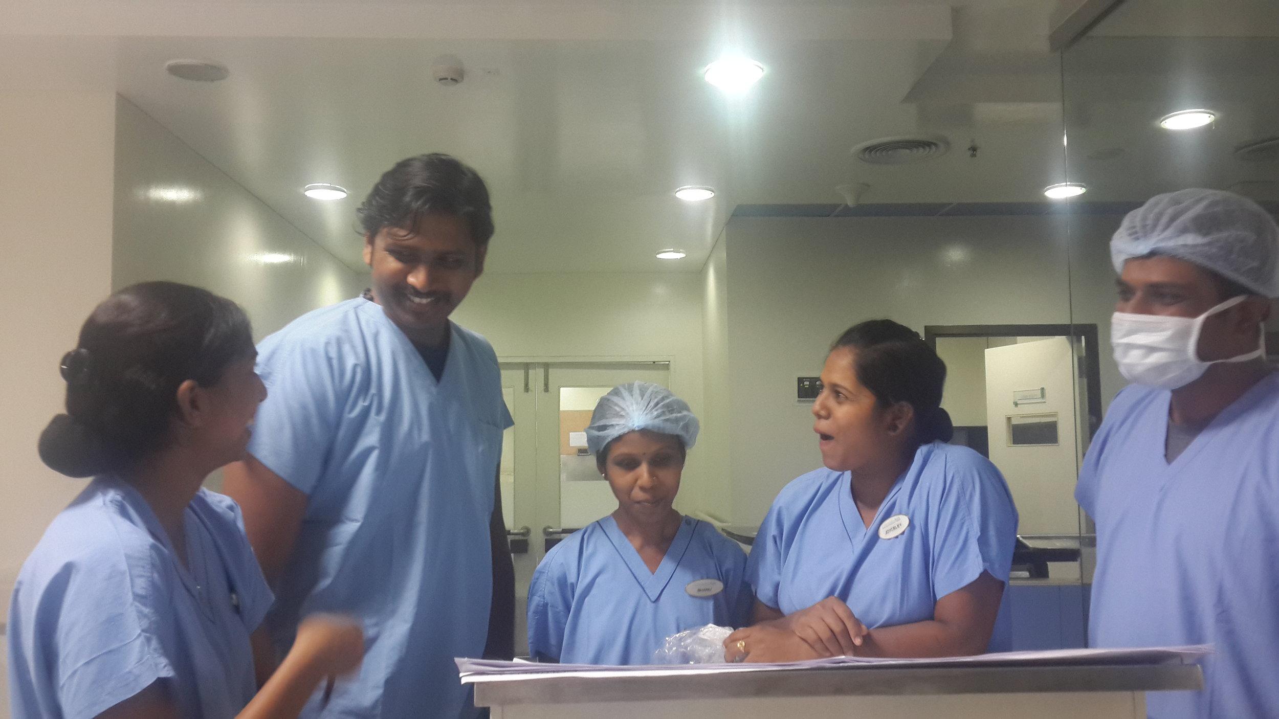 The nurses!