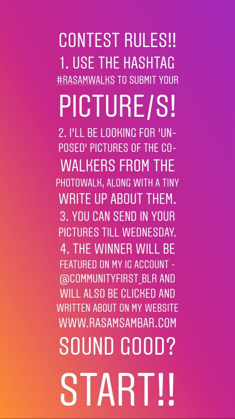 Photowalk contest