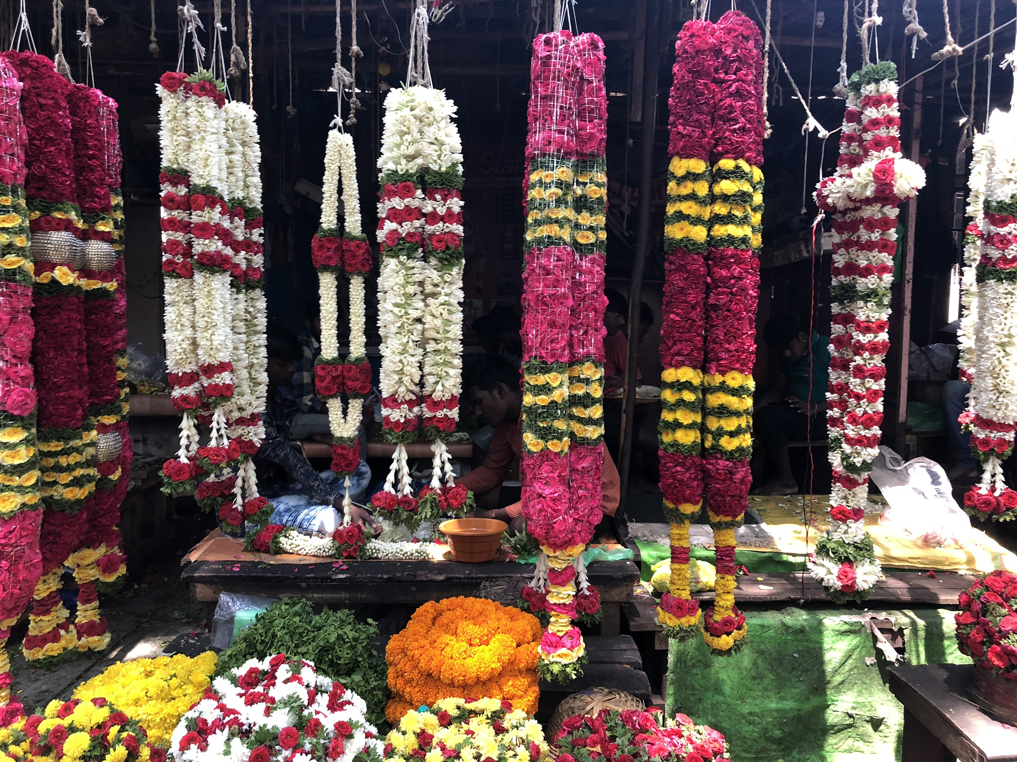 Veggies, fruit and flower shopping for Vishu!