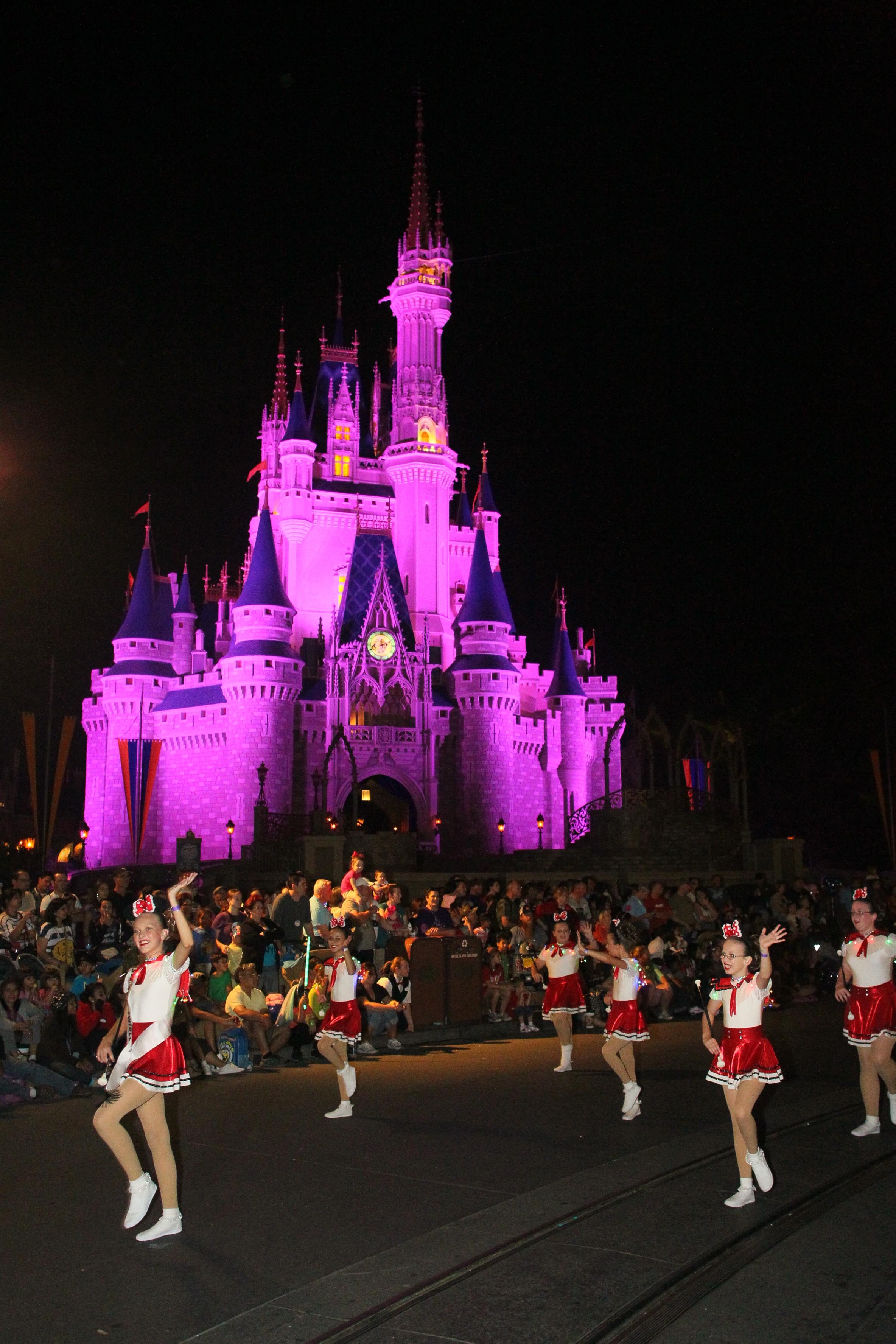 2012 Australian representatives parading in Magic kingdom