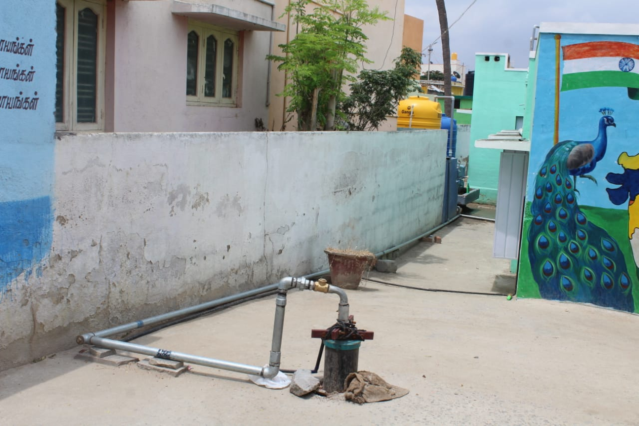 Newly installed Bore well, providing the children and staff with clean, safe drinking water.
