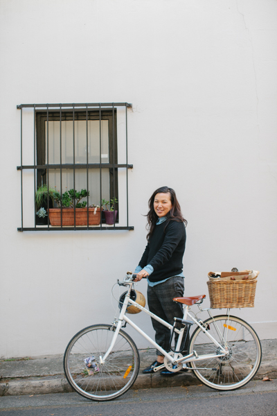 Hetty with her ride in Surry Hills. Photo credit:Luisa Brimble