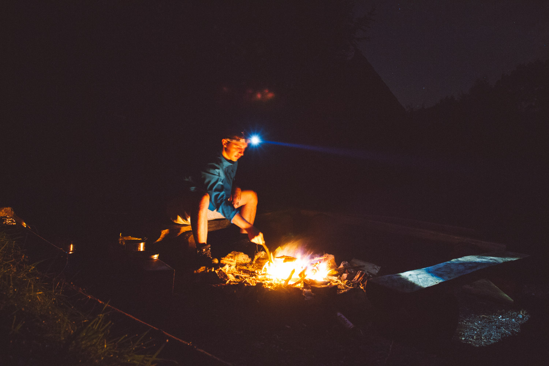 SIMK man fire sky stars