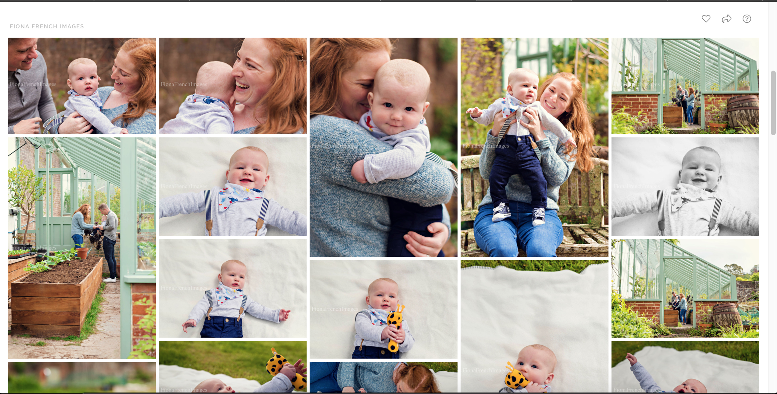 I will email you a link to your personal, password protected, online gallery where you can view all your final images, create a favourites list and share with family and friends should you wish.
