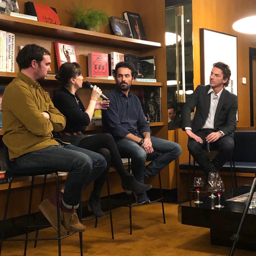 Mardi 12 février - le prolifique Thomas Erber reçoitDelphine Plisson (Maison Plisson),Bertrand Grébaut (Septime) etJulien Cohen (Ferme de l'envol)pour une Conversation autour de la chaîne alimentaire...
