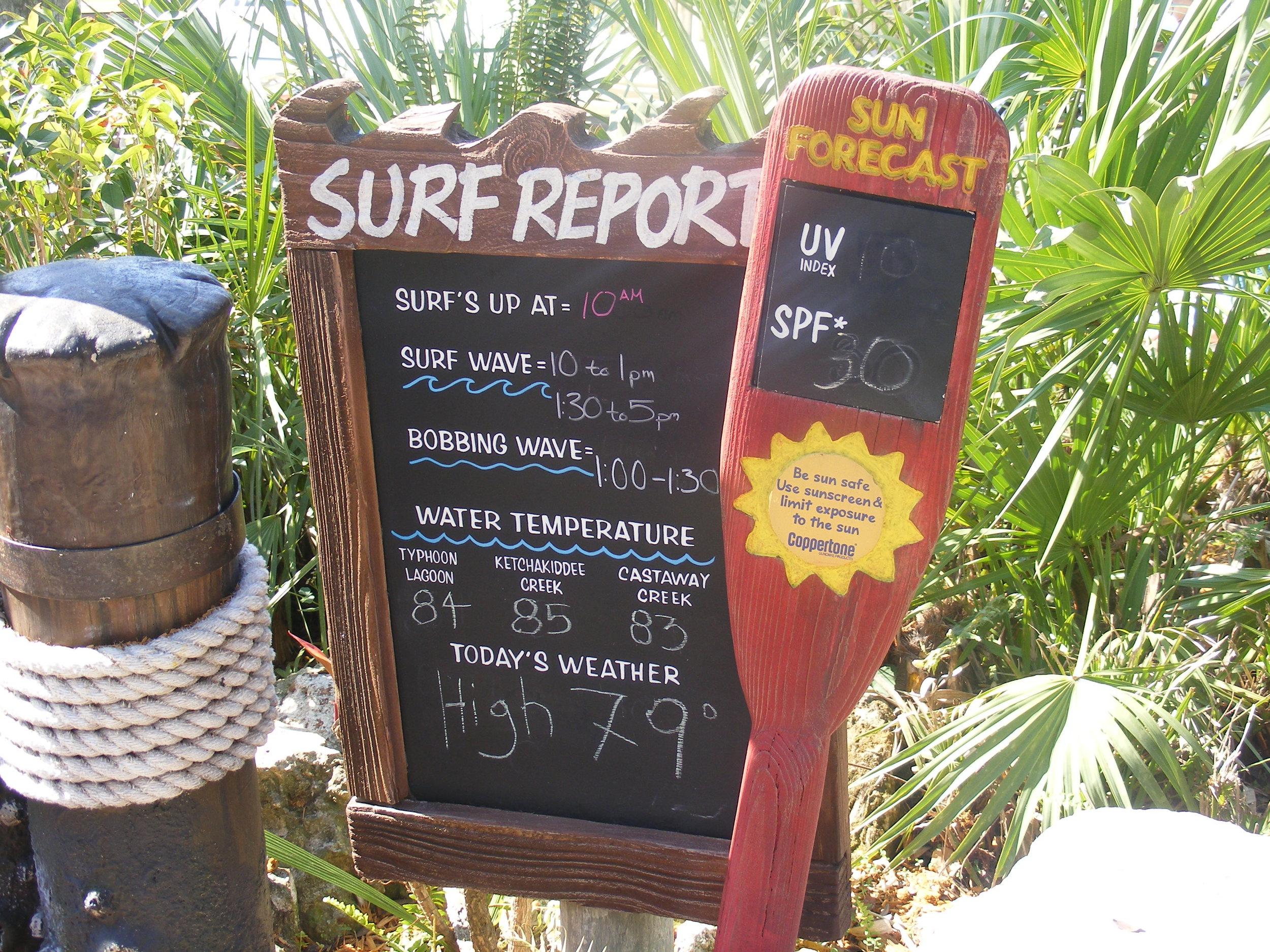 Surf Report, Typhoon Lagoon