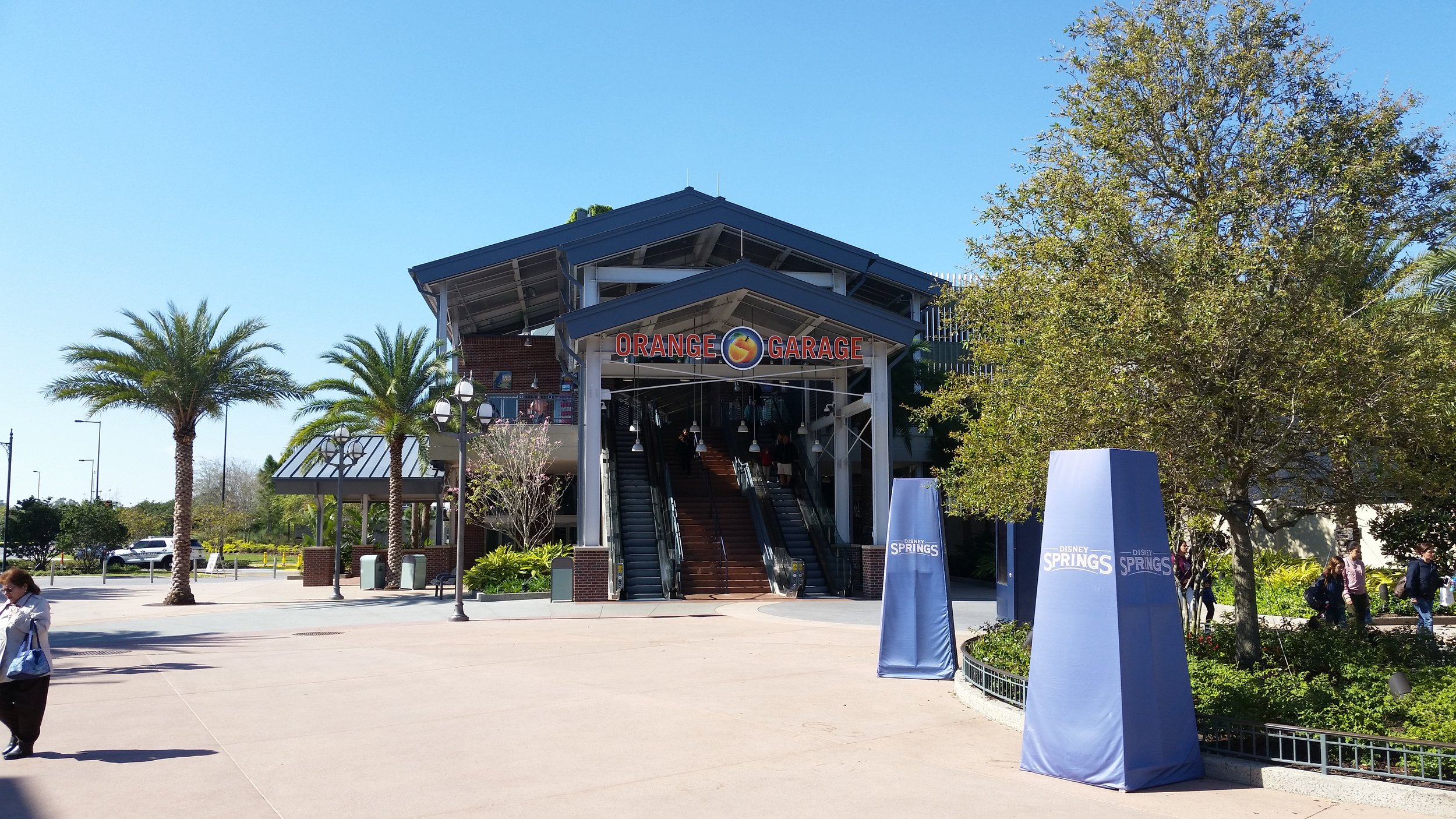 Entrance to Orange Garage, Disney Springs