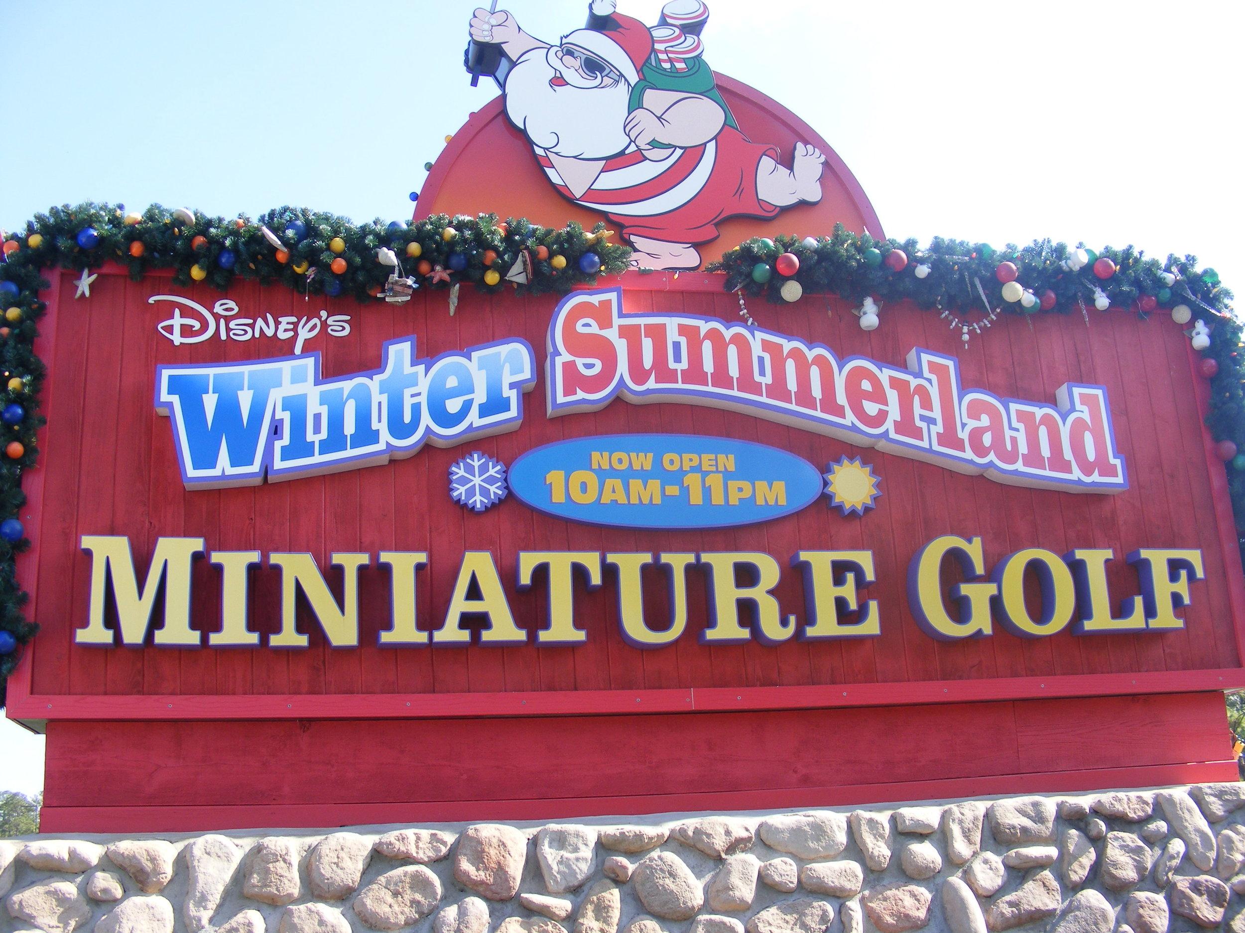 Entrance Sign, Winter Summerland Miniature Golf Course