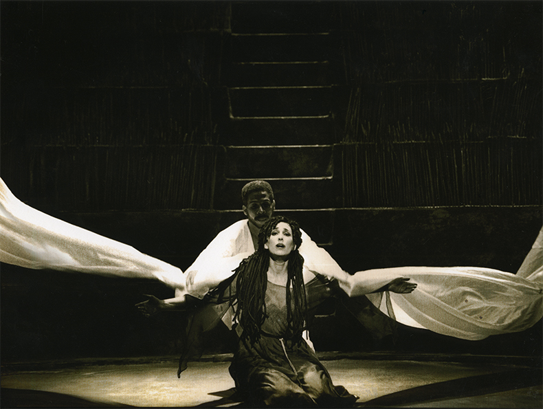 Gail Hadani as Rutah and Eugene Perry as Gideon in The Houston Grand Opera Production
