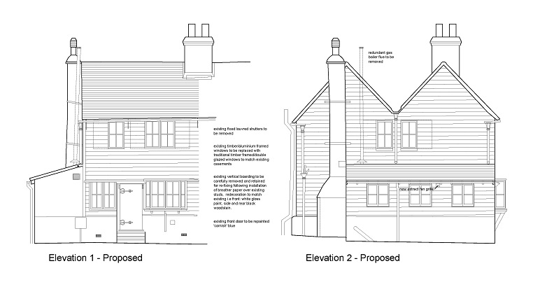 drawings for listed building consent application
