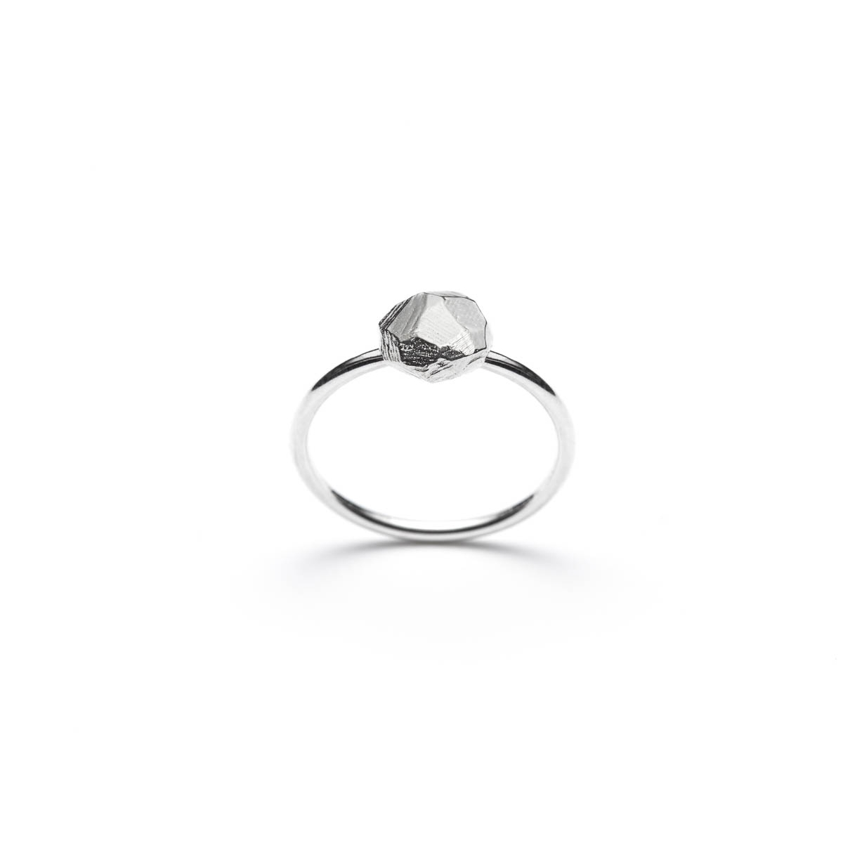 Minimalist silver ring, polished sterling jewelry, minimalist silver ring from Texture line