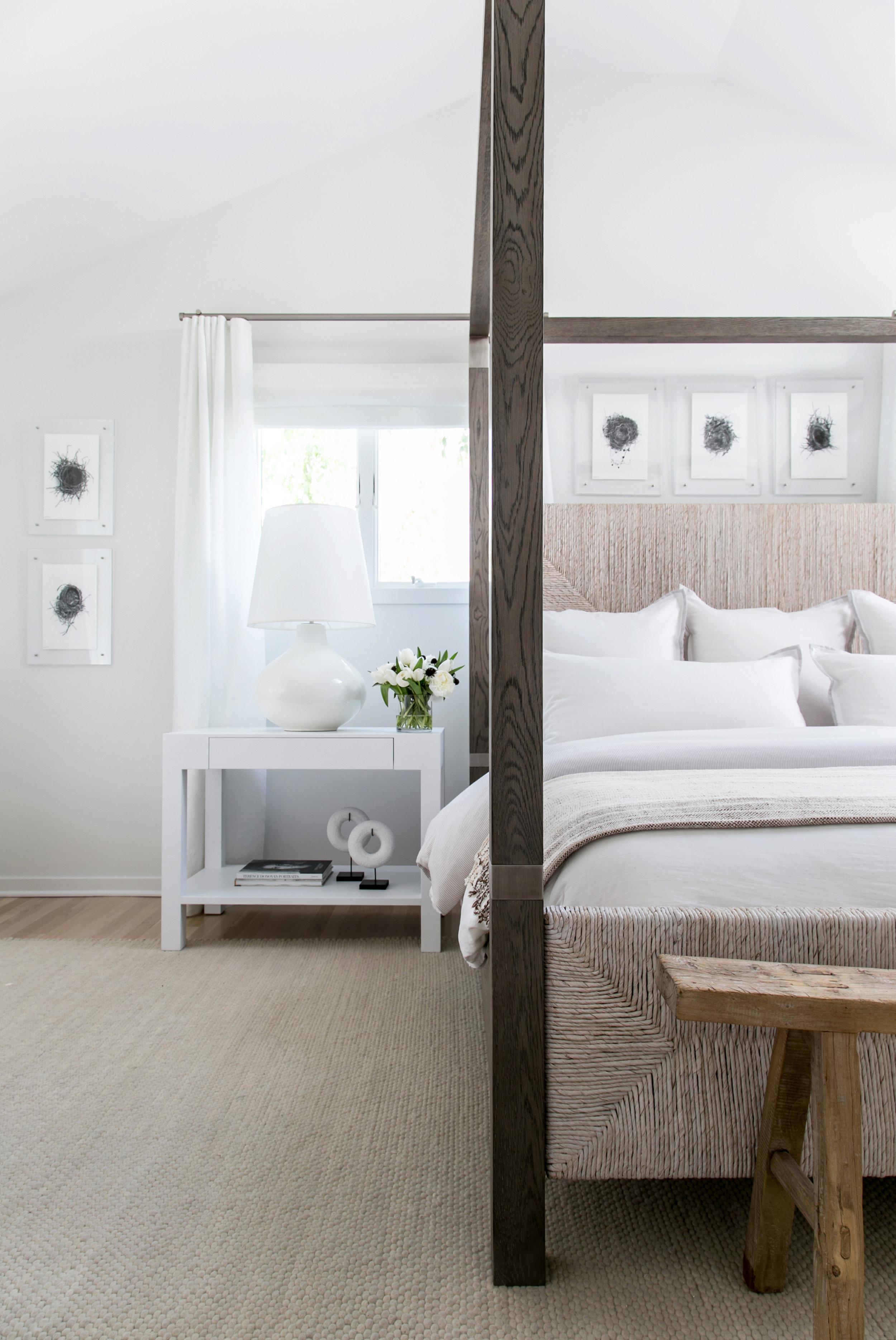east hampton post modern chango co master bedroom detail