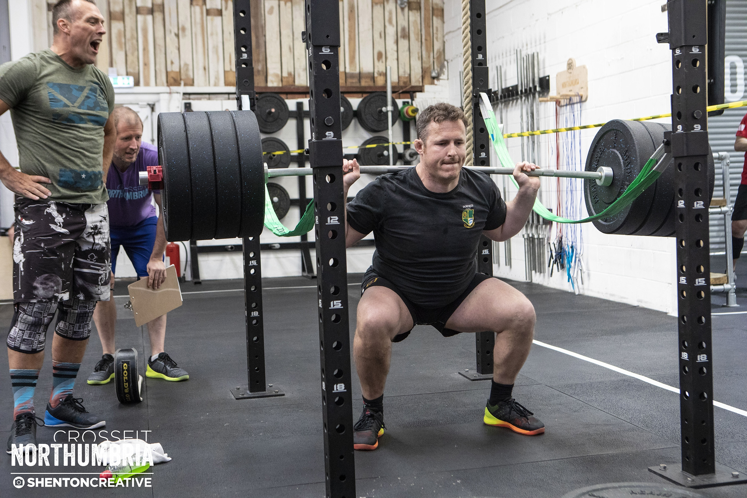 Our early morning regular Joe 'Geography' Woodhams taking 180kg for a ride at our first ever CFN Lift Off.