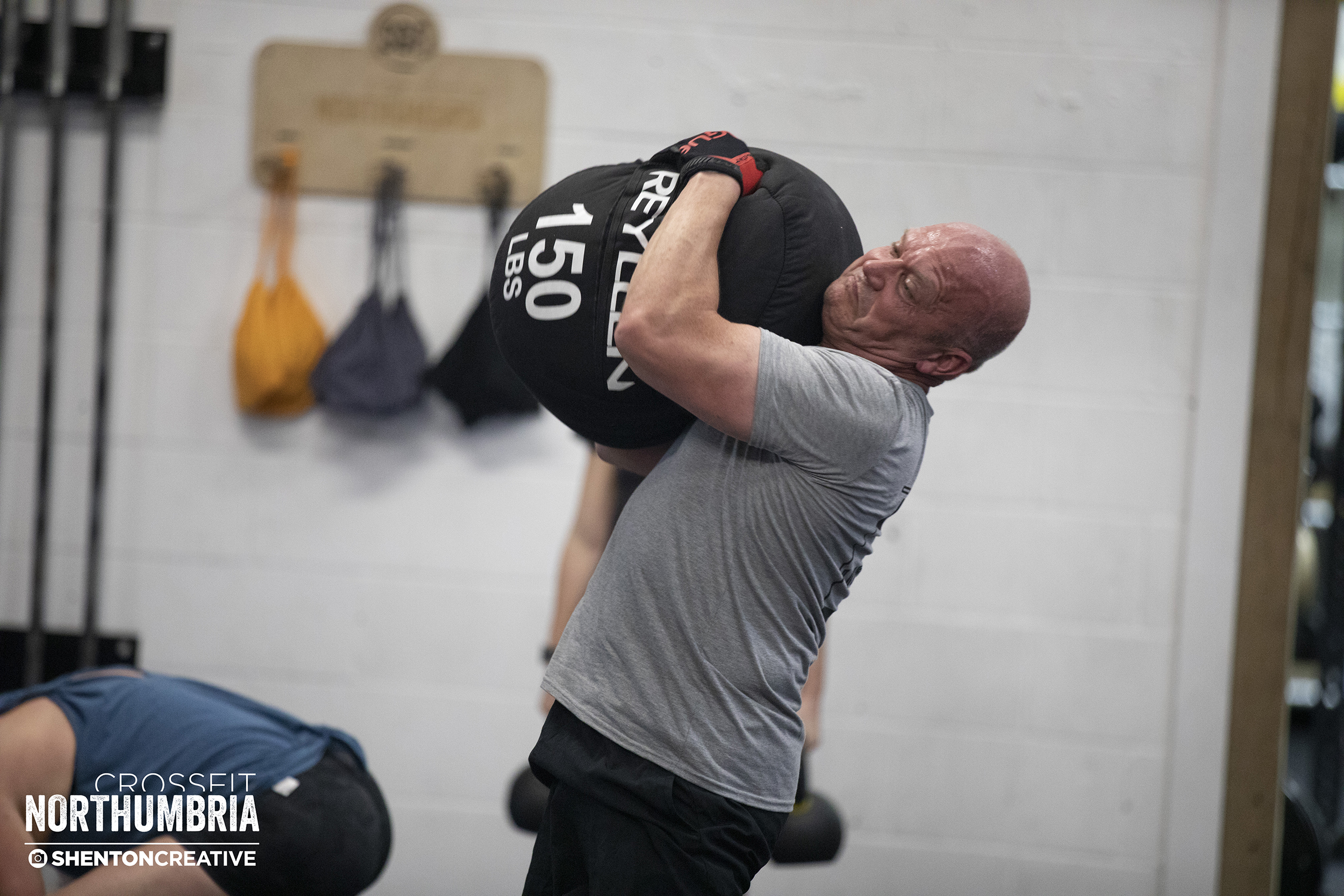 Gary Jones - Testing out the new 70kg sandbag during our weekly team WOD