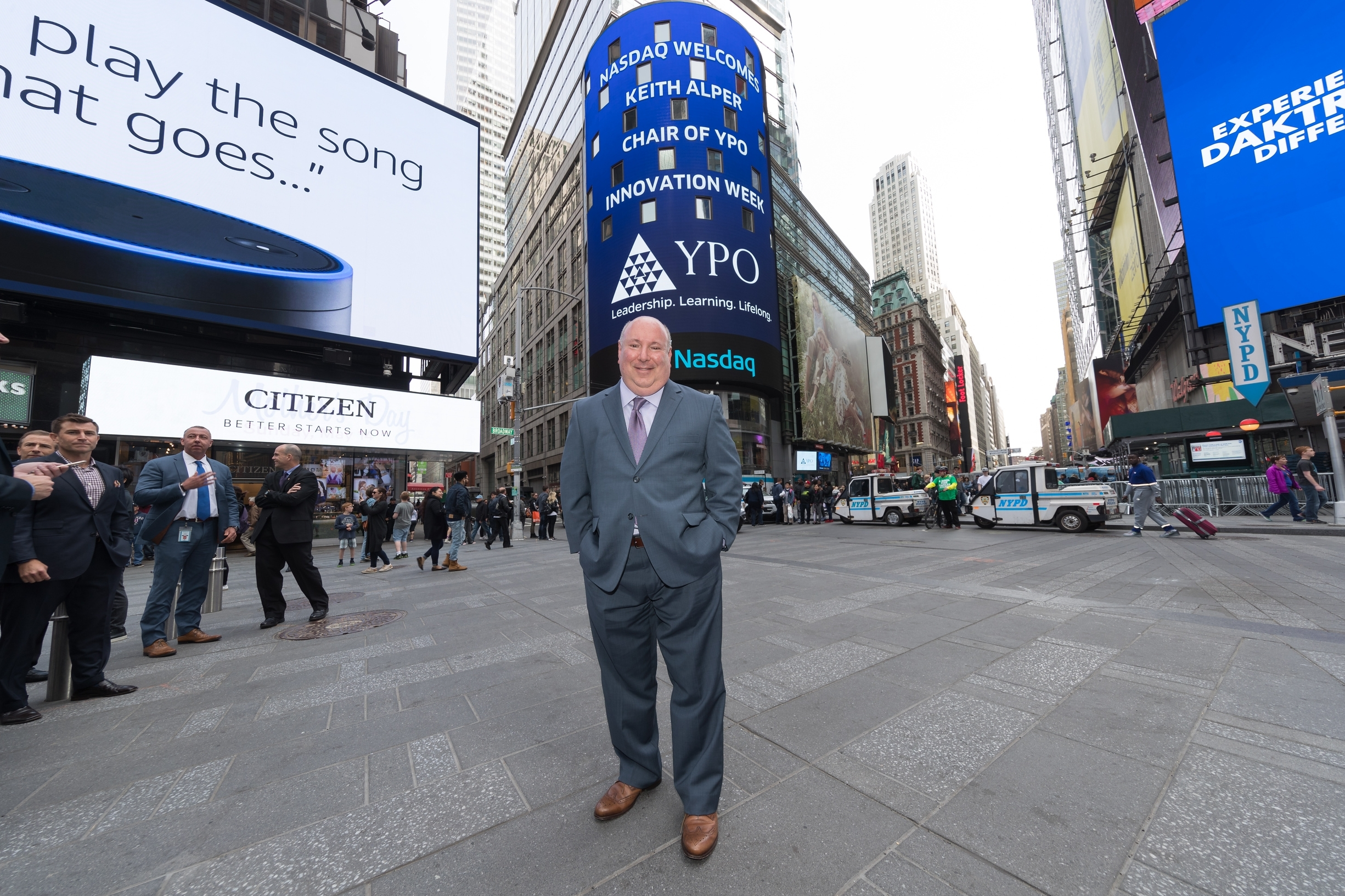 Keith Alper  NYC Times Square/Nasdaq. Keith serves as Global Chairman of YPO Innovation Week.