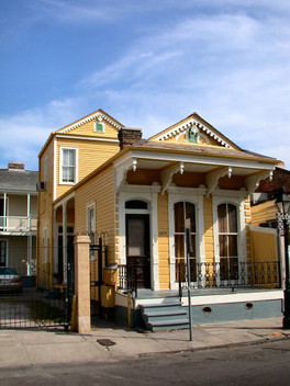 A Camel Back Shotgun House, so called for the two-story addition at the rear