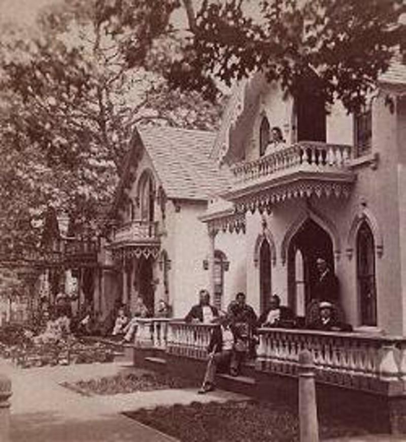 Cottages on Clinton Avenue. - c. 1875