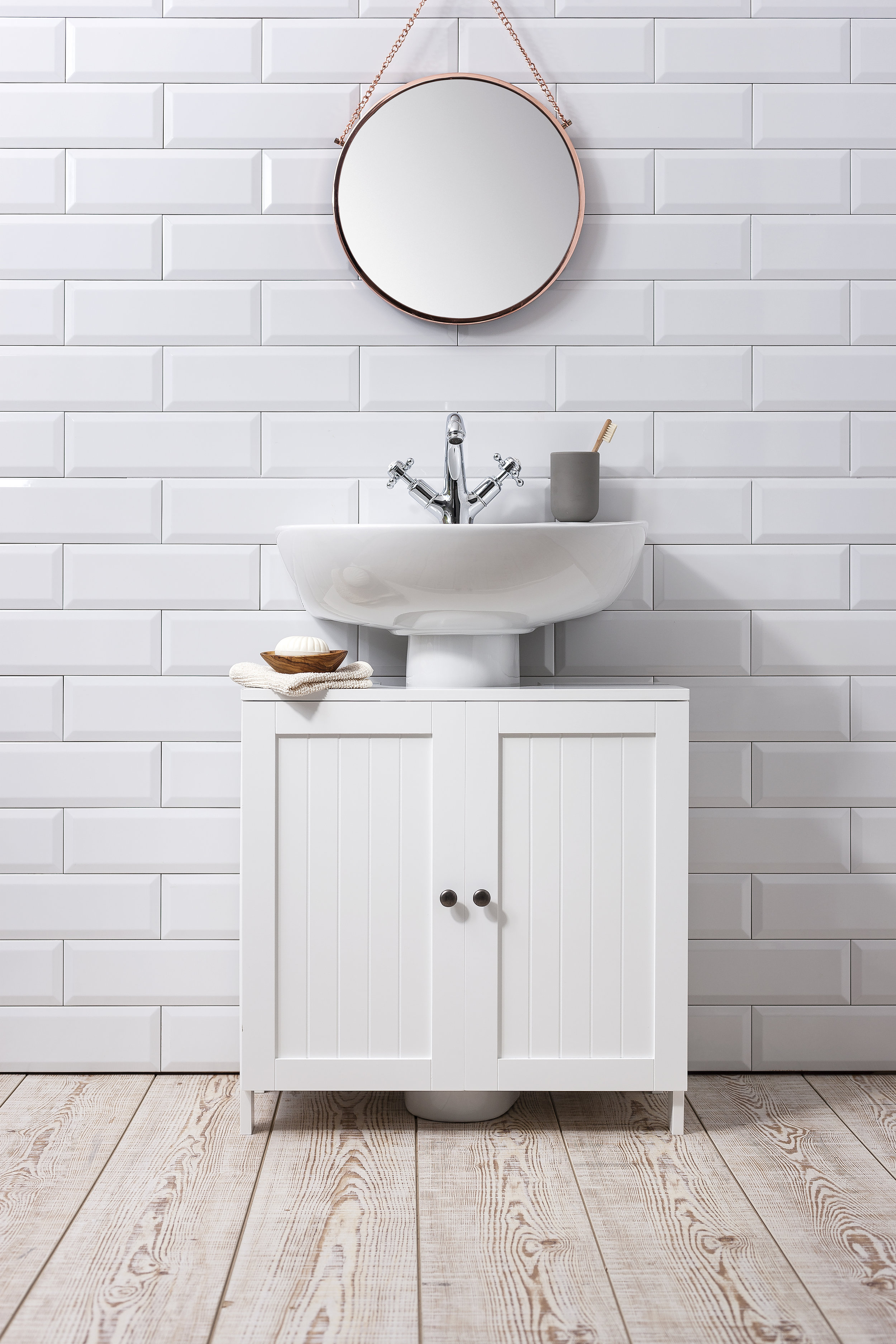 4. The ultimate bargain bathroom essential! - This simple but contemporary cabinet from Noa and Nani is an absolute steal at £39.