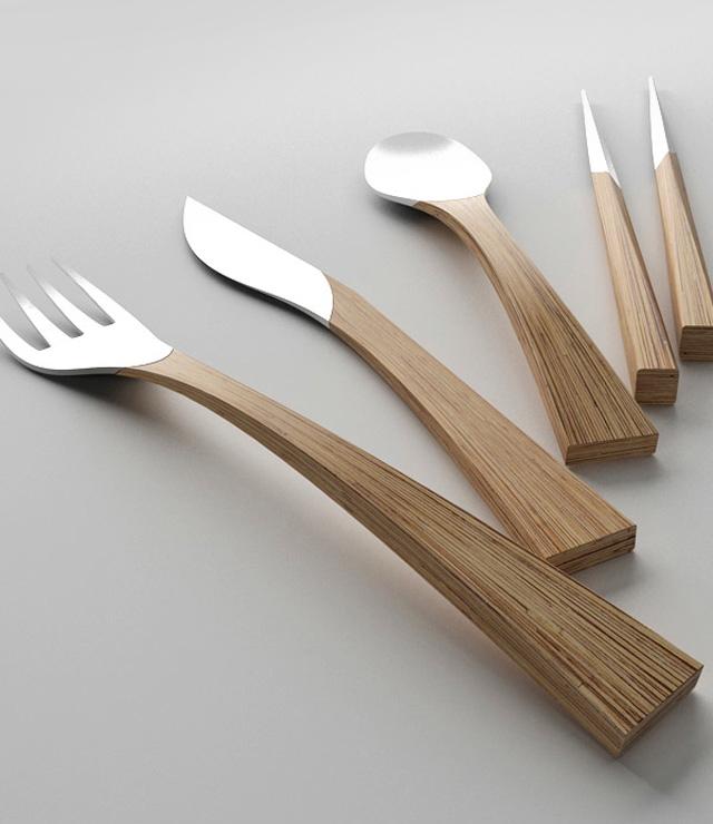 Beyond Silver - A Unique Cutlery Set by Clara del Portillo via  Mmminimal