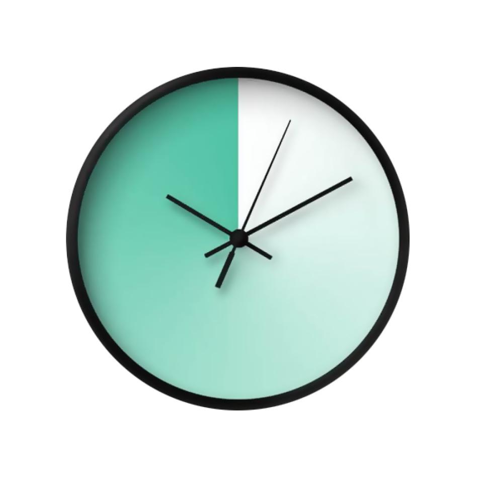 Mint shade wall clock from Etsy