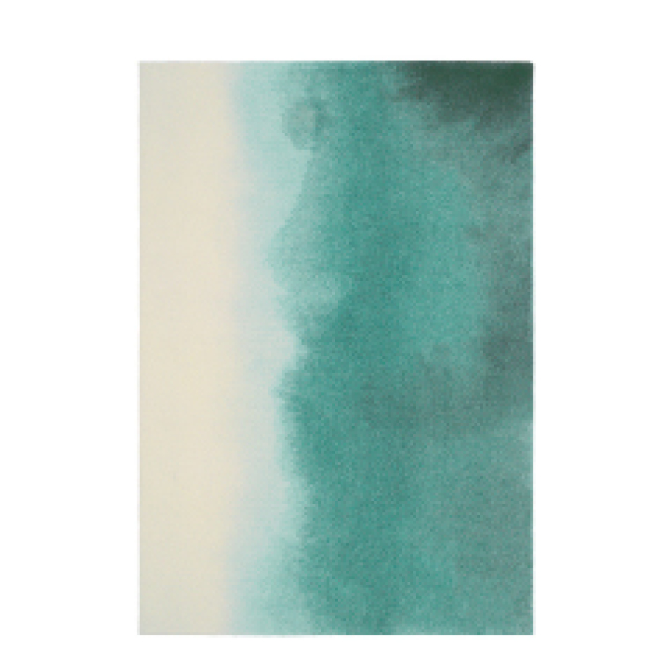 Teal Paintbox Rug from Amara