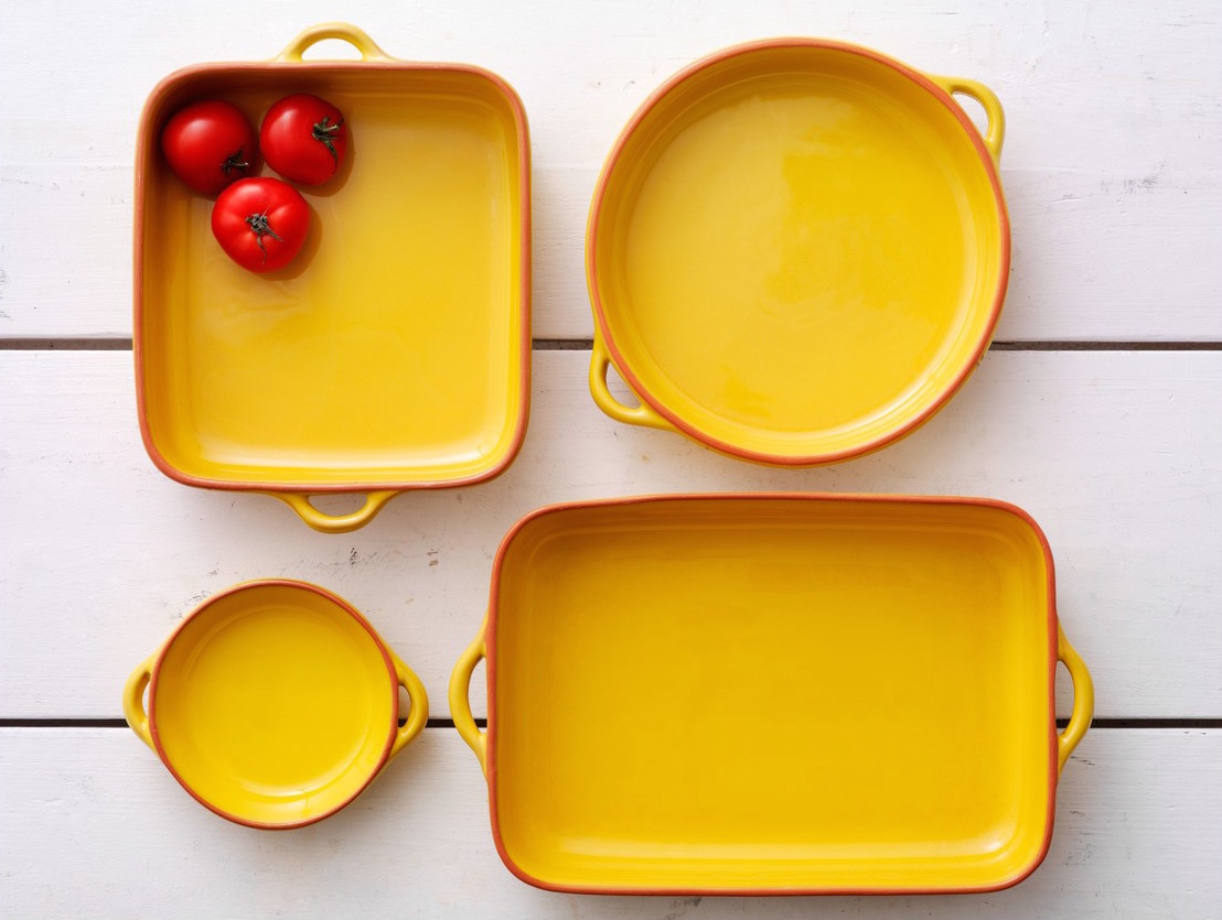 Persuade Dad to keep cooking your weekend fry ups in style with these bold yellow terracotta pots from Habitat! -