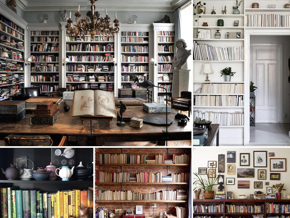 Photo credit left to right:  Desire to Inspire ,  Coco Lapine Design ,  Matilda's Bookshelf , Inside Closet ,  Ingrid Weir
