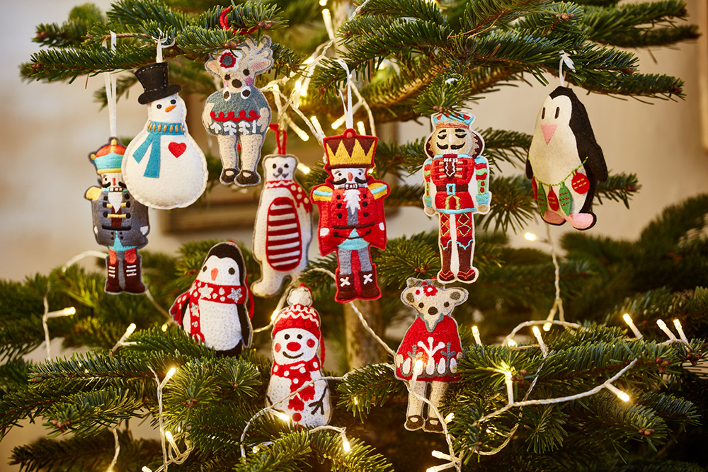 Fond memories - Continuing the conventional theme, handmade toys, crafts and decorations always hit the spot. There's something wonderfully nostalgic about seeing a knitted snowman, reindeer, penguin or nutcracker hanging from the tree, and Pignut have captured that romance perfectly with their country-inspired lifestyle ornaments. Check out their range for a trip down memory lane!