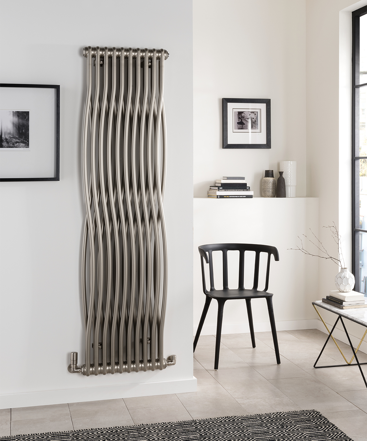 Radiant radiators - Of course, heating is an integral part of transforming your home into a warming winter hideaway. To combine some unique style with practical functionality, you won't want to miss The Radiator Company's Tesi Join; sporting high-quality Italian design and manufacture, the beautifully shaped, steel multi-column heater will make a real statement on your walls. There are six models in the range, which are priced from £873.60 – take a look for yourself at www.theradiatorcompany.co.uk