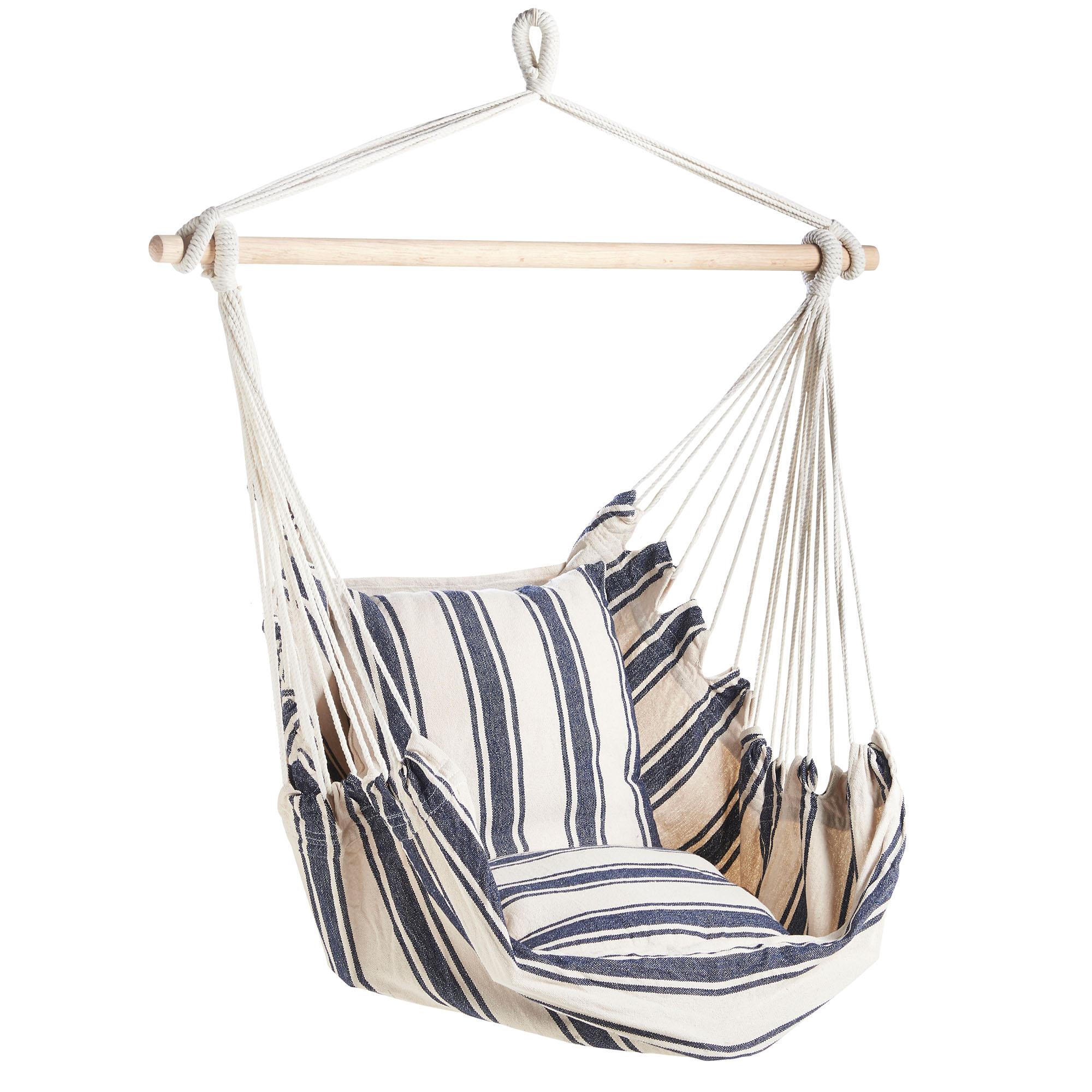 VonHaus Hanging Chair Blue and White Stripe 1.jpg