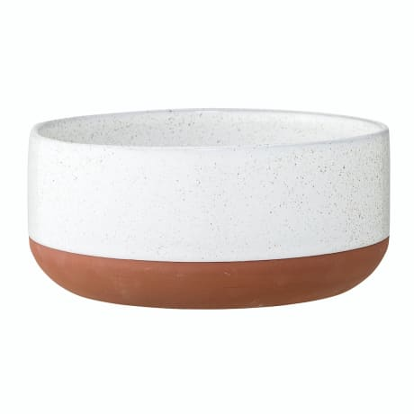 Bloomingville Terracotta and White Bowl