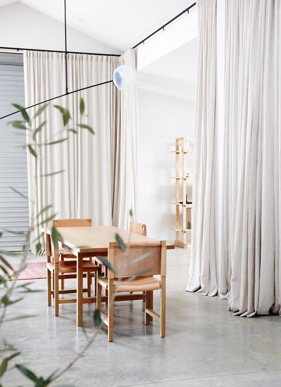 Wooden Dining Table and Beige Chairs .jpg