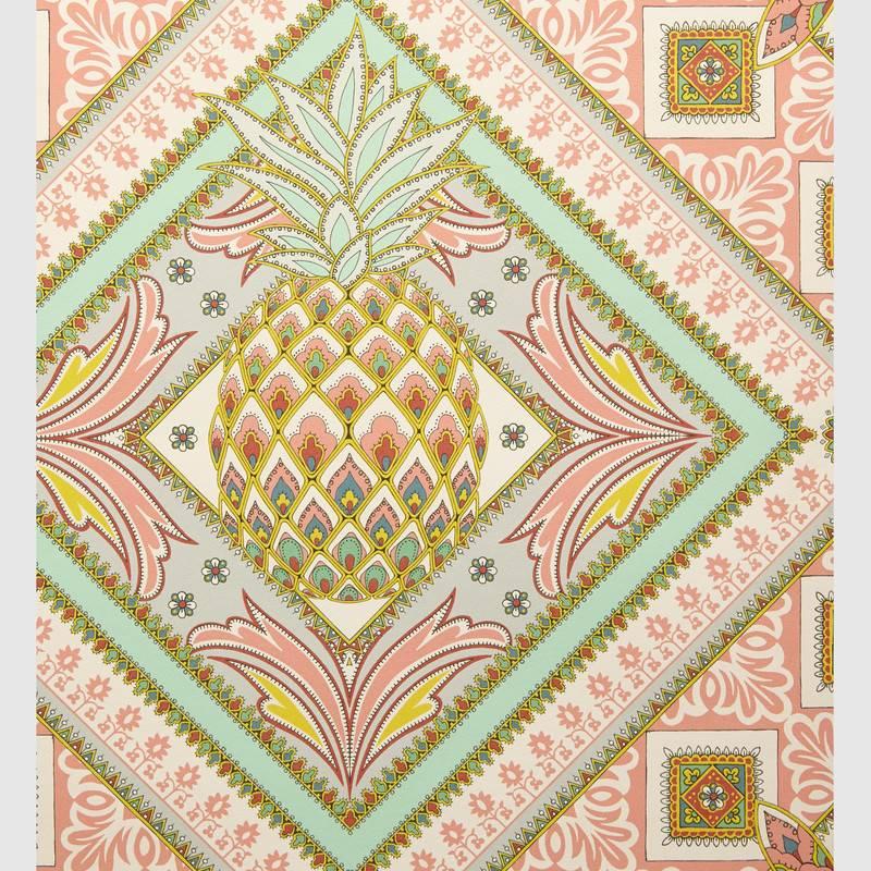 Pineapple Print Wallpaper