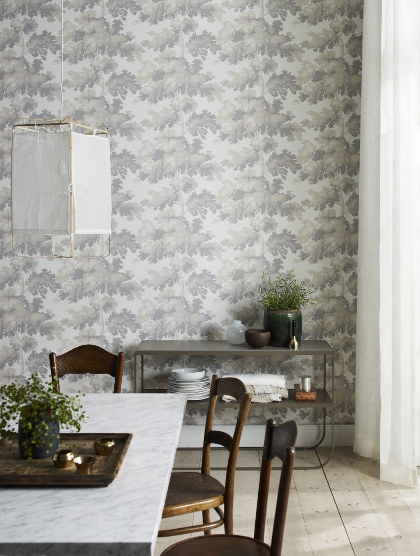 Raphaël from Sandberg - Renowned Swedish wallpaper studio Sandberg reveals a wide range of botanical designs, including the popular Raphaël pattern from the New York collection. Inspired by leafy Central Park, Raphaël features towering trees with stylised leaves and a delicate balance between light and shade. Calm and serene, Raphaël promises to create your own woodland wonder at home. From £89.00Image: Sandberg