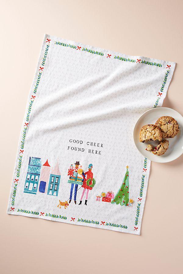 Good Cheer Dish Towel - £16