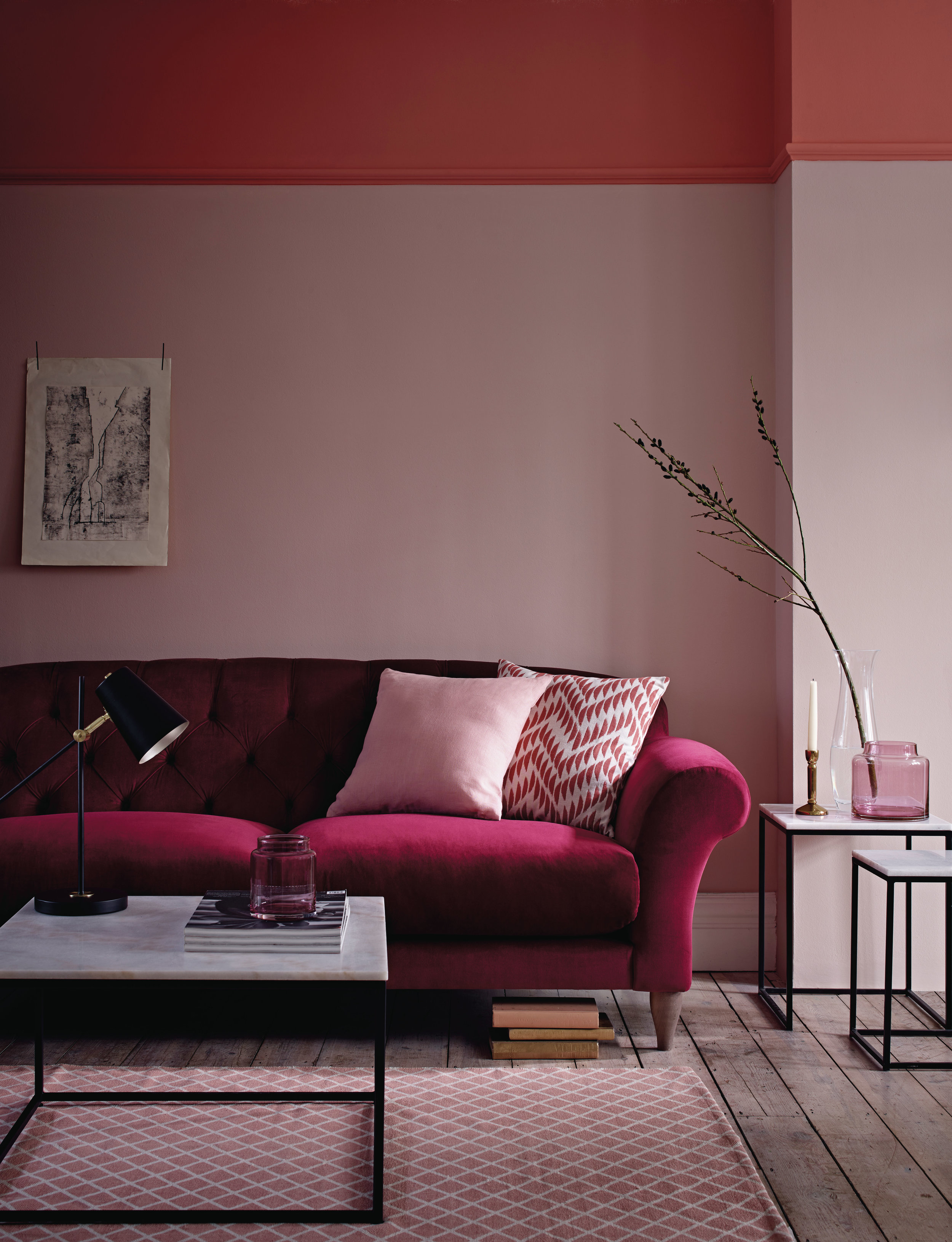 Velvet Sofas - A luxury, lounging staple, the velvet sofa is the hero of any living room, and despite its luxe look, doesn't need to cost the earth. With a range of sizes and colours available, you should be able to find the perfect velvet sofa for you and your budget with ease. Opt for rich jewel tones for a real style statement, a bright shade for the ultimate hero piece (like the yellow velvet ROM sofa seen here) or keep it neutral with soft shades of grey.Marks & Spencer Newbury Sofa in Gosford Velvet Deep Red: £1499.00
