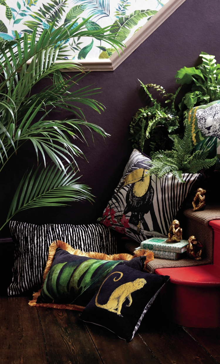 Take a walk on the wild side… - … with one of the biggest interiors trends of the season. The rising popularity of maximalist design has allowed jungle and safari prints to slowly make their way back into our homes. Bold brands like Rockett St. George, Hurn & Hurn and Audenza are paving the way for this trend with eccentric, colourful designs that balance dark hues and luxurious textures with striking animal prints.