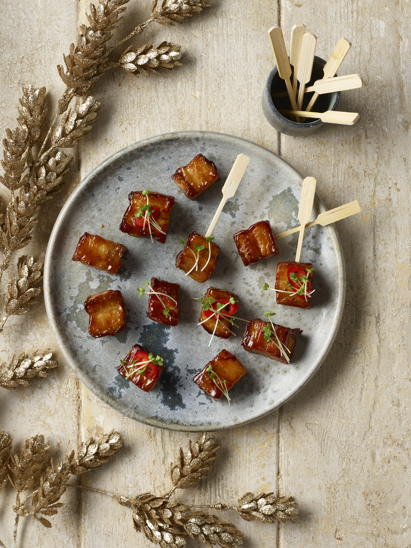 Extra Special Pork Belly Skewers