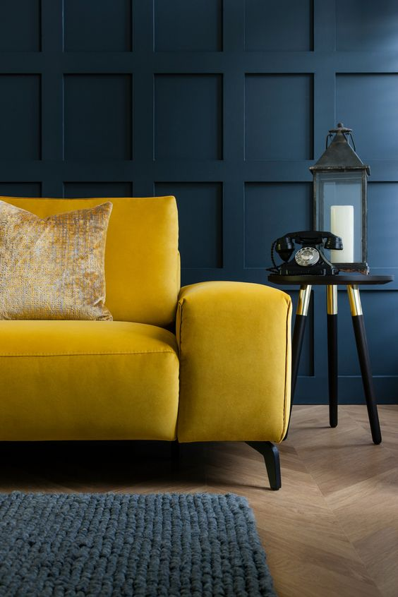 1. Mustard Yellow - In a not-so-surprising twist, searches for mustard yellow are up 45% this year. The more accessible version of our favourite Gen Z yellow, mustard is a bold yet versatile tone that can be easily integrated into most interior schemes. We love sofas – like this one from ROM - and other soft furnishings in this shade.