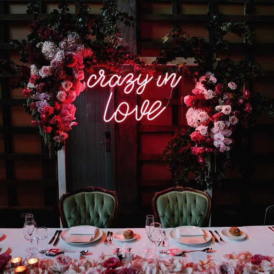 16. Neon Wedding Signs - The perfect way to declare your love for that someone special, a neon sign is now the ultimate addition to any wedding. From the happy couple's names to heartfelt messages, spell it out in lights – we particularly love how the signs look when nestled amongst a delicate floral display.