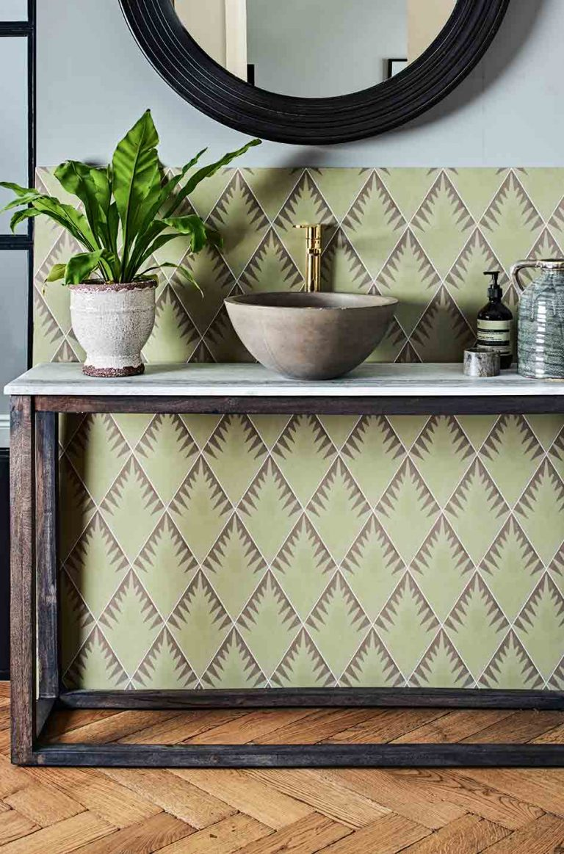 Jigsaw Fern Pattern Tile by Neisha Crosland for Artisans of Devizes: £7.80 per tile