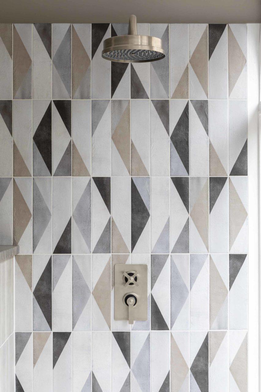 Oblique Latte Mix Décor Porcelain Tiles from Mandarin Stone: £50.20 per m2